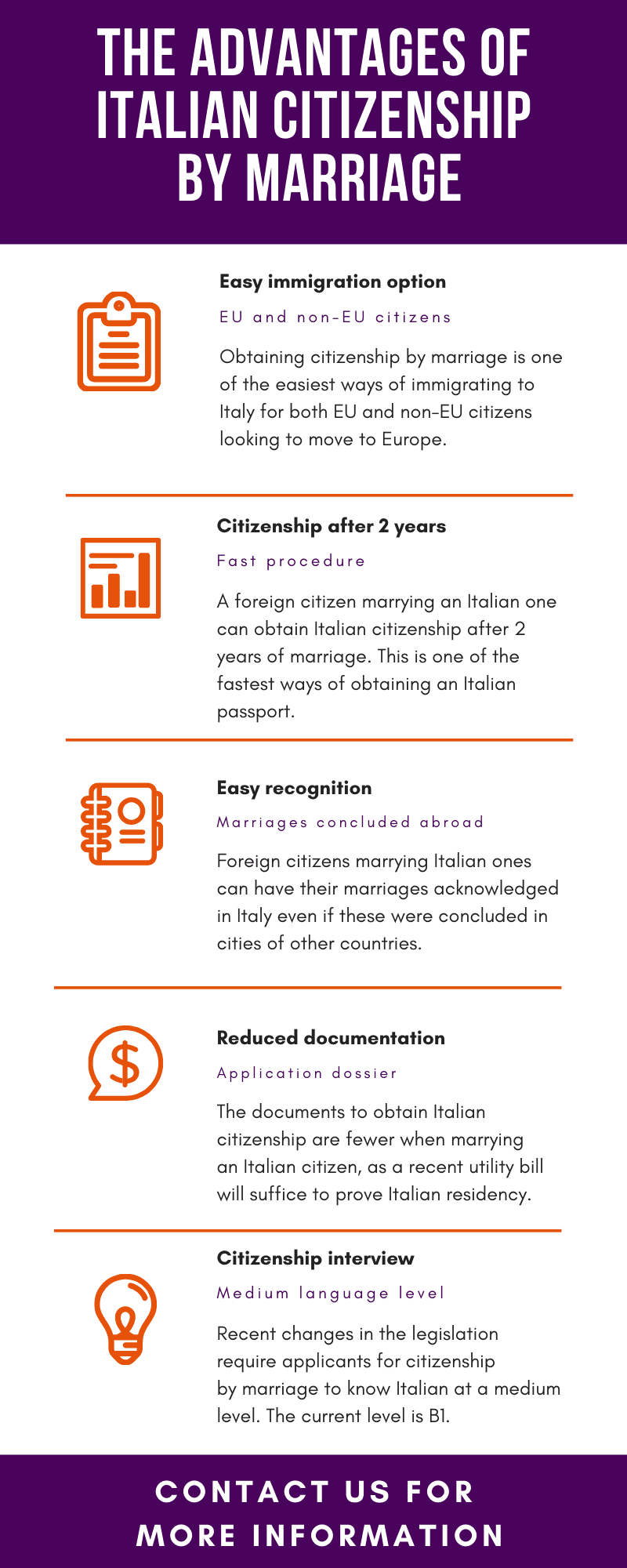 The advantages of Italian citizenship by marriage